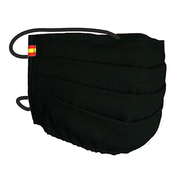 Mascarilla con la Bandera de España Negra